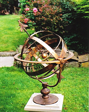 All-bronze Taurus Armillary