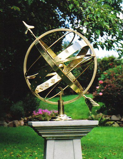 All-brass Ecliptic Armillary